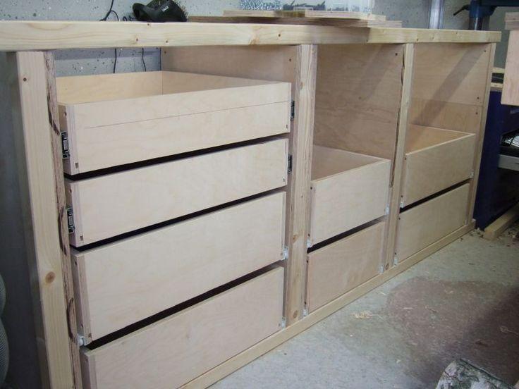 Schubladenschrank für Werkstatt – Bauanleitung zu…