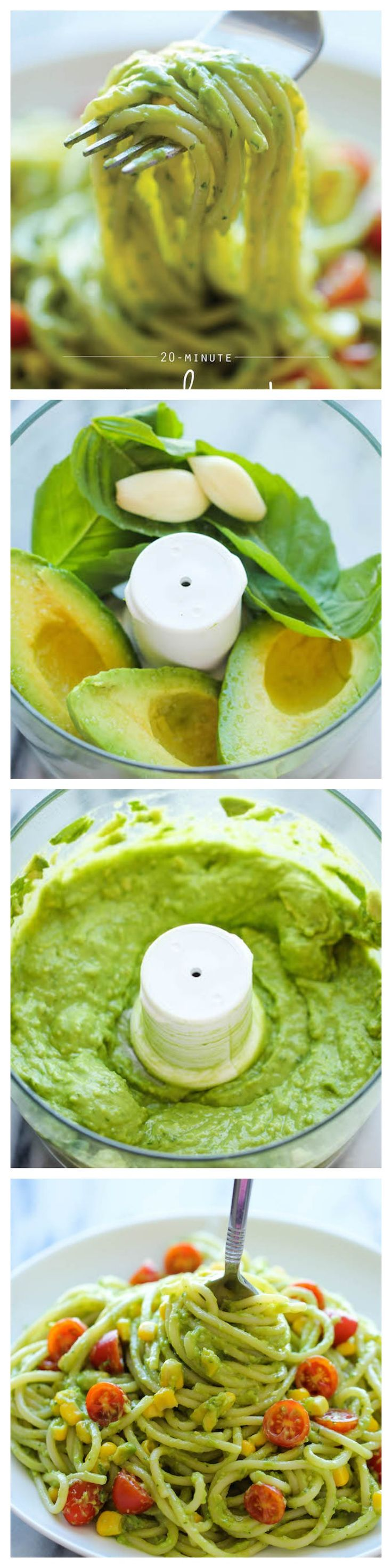 Healthy Recipe | Avocado Pasta sauce. Put on zucchini noodles for quick low carb dinner.