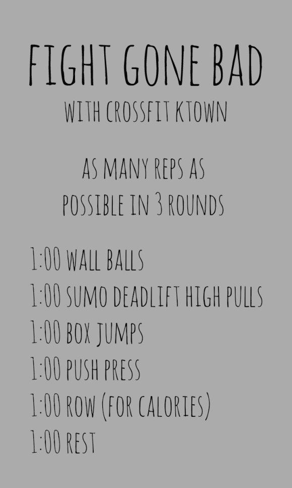 crossfit ktown wod - fight gone bad - for 50 states in a year