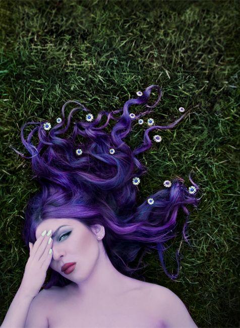 © Kat von Rose / Spring, 2015  #violet #purple #fineartphotography #photography #aesthetic #violetaesthetic #portrait #pale