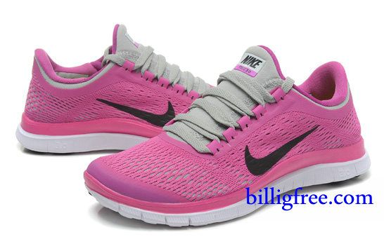 Billig Schuhe Damen Nike Free 3.0 V5 (Farbe:Vamp&innen-pink,Logo-schwarz;Sohle-weiB) Online Laden.