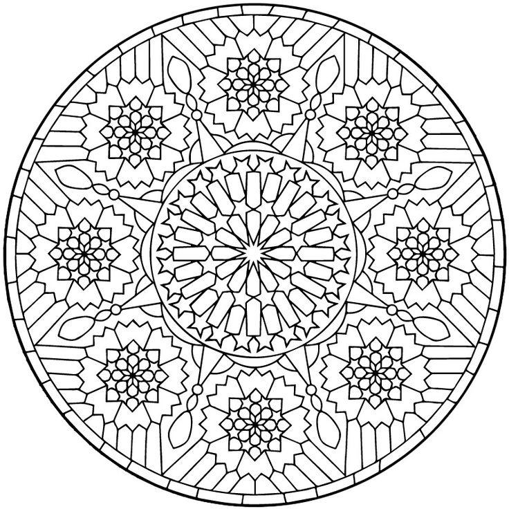 geometric mandala coloring page - Art Therapy Coloring Pages Mandala
