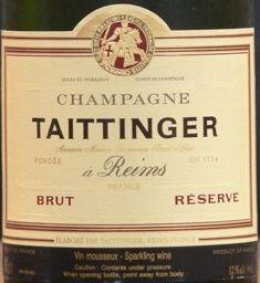NV Taittinger Champagne Brut Réserve / La Française, France, Champagne - CellarTracker