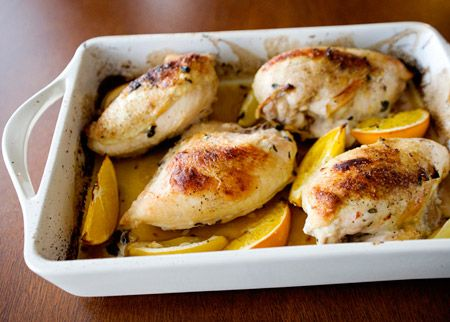 Herb and Citrus Marinated Roasted Chicken. Looks yummy!!