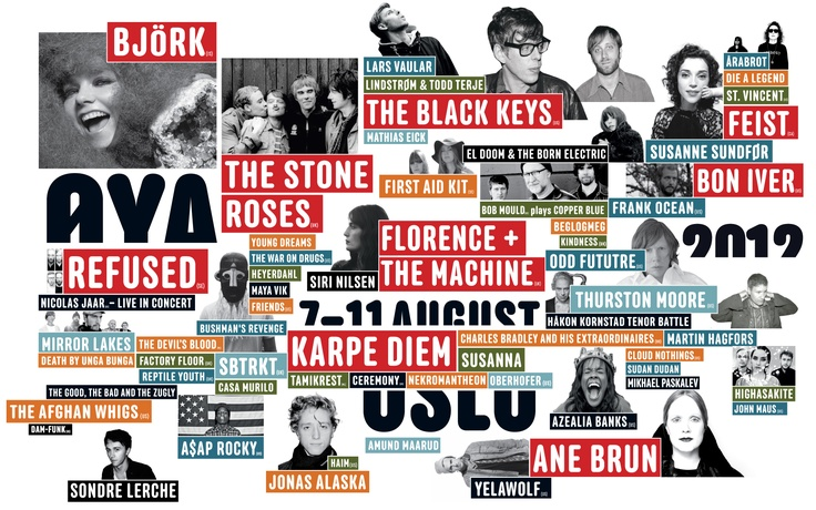 The Oya fetival in Oslo! This year The Stone Roses and Odd Future are coming, Hooray!