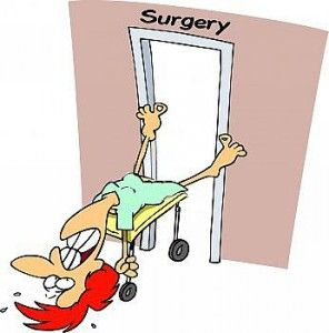 Hip Replacement Surgery and Recovery Clip Art