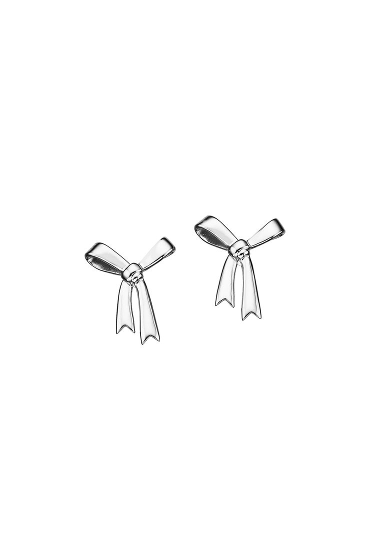 Bow Earrings Silver - All Jewellery | Karen Walker