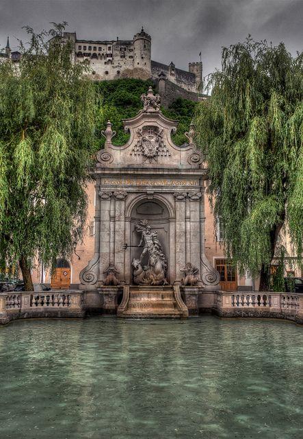 Neptune's Fountain, Salzburg, Austria