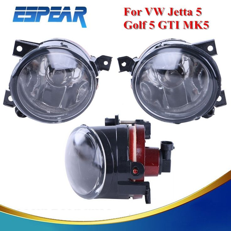 Left & Right Front Bumper Driving Fog Light Foglamps Lens For VW Jetta 5 Golf 5 GTI MK5 with Box Car Accessory *990