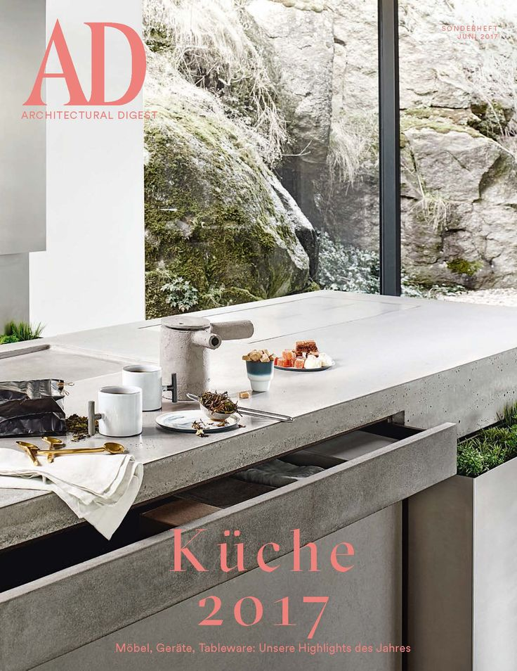 auf dem cover der der aktuellen ad architectural digest germany k che 2017 unsere steininger. Black Bedroom Furniture Sets. Home Design Ideas
