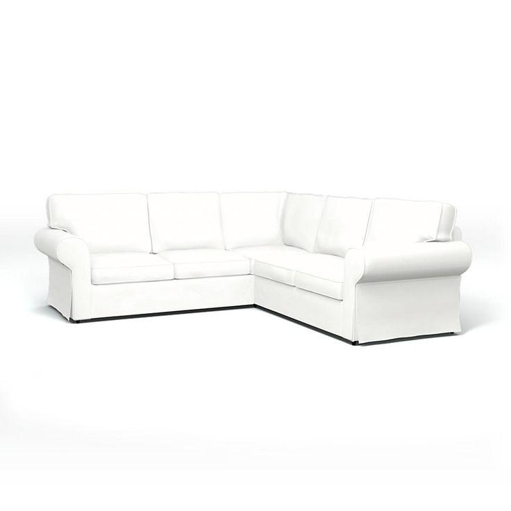 Cheap Sectional Sofas Ektorp Sofa Covers Corner sofa Regular Fit using the fabric Panama Cotton Absolute