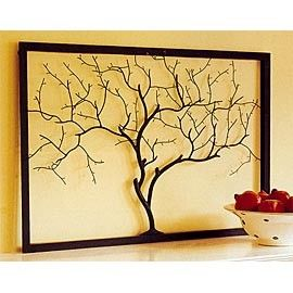 Frame, twigs, & glue, finding twigs and attempting to do this. So lovely.