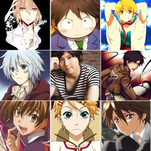 (Yūki Kaji)    Black Butler as Finnian, Fairy Tail as Lyon Vastia, Kuroshitsuji as Finnian,Accel World as Haruyuki Arita, K (anime) as Totsuka Tatara. Attack on Titan as Eren.