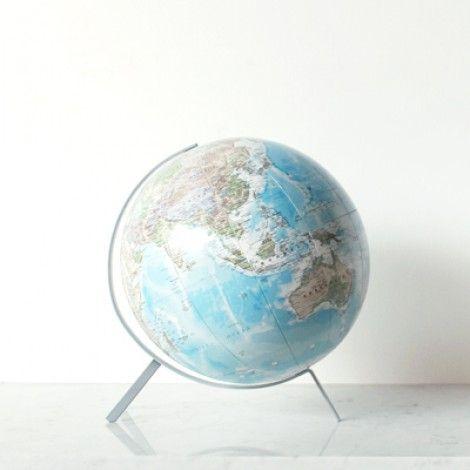 Telegram World Globe - Grey Metal Frame