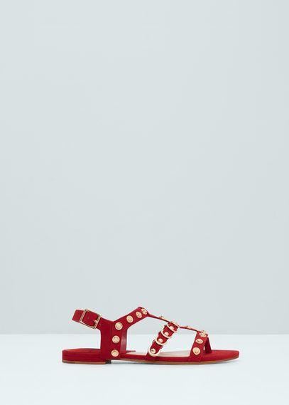 Gladiator studded sandals | MANGO