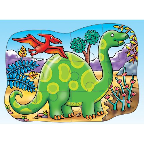 Little Diplodocus Double-Sided Puzzle