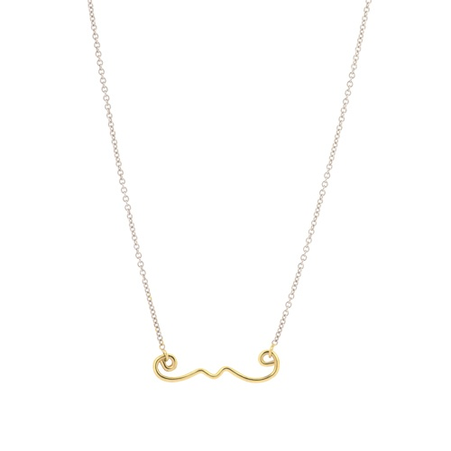MOUSTACHE, designed by Tiphaine Guillermou, made by Goldilocks (check their website! http://www.goldilocksjewellery.com/)