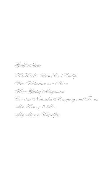 3 Musik Nicolas dop!  Inledning  Fanfar  Claude Gervaise Olle Hermansen, hovtrumpetare  Musik vid dopgudstjänsten Sats 1 ur Kvartetten för flöjt och stråkar i D- dur KV 285 Wolfgang Amadeus Mozart (1756 –1791)  Anna Norberg, flöjt  Semmy Stahlhammer, violin Mary Ljungquist Hén, orgel  Psalm 248 – Tryggare kan ingen vara text: Lina Sandell (1832–1903)  musik: svensk variant av tysk folkmelodi Anna Norberg, flöjt  Semmy Stahlhammer, violin  Mary Ljungquist Hén, orgel  O for the Wings of a Dove…