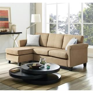 Portfolio Luca Caribbean Blue Linen SoFast Sectional Sofa with Reversible Chaise - Overstock Shopping - Big Discounts on PORTFOLIO Sectional Sofas