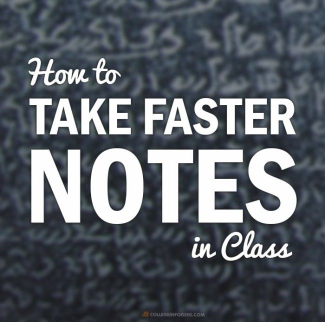 How to Take Faster Handwritten Notes Using Shorthand Techniques - Save time I'm your college classes with this technique. Great tips for college students!