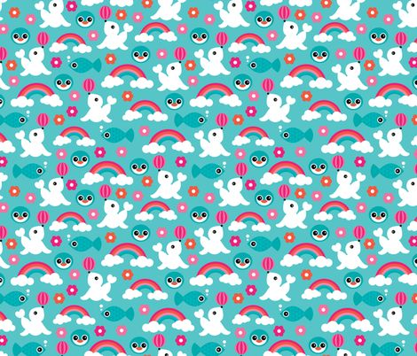 261 best images about little smilemakers fabric for Fish pattern fabric