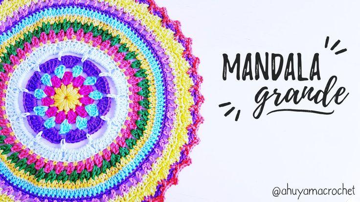 Como tejer un MANDALA GRANDE a crochet | AHUYAMA CROCHET