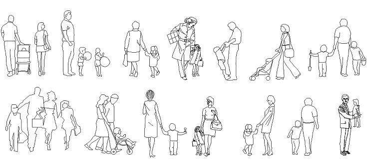 Dwg Adı : Çocuklu insan çizimleri  İndirme Linki : www.dwgindir.com/puanli/puanli-2-boyutlu-dwgler/puanli-insan-ve-hayvanlar/cocuklu-insan-cizimleri.html