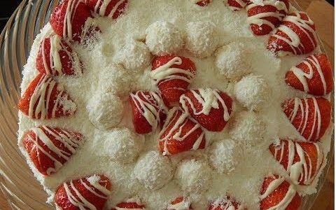 Raffaello-Erdbeer-Torte selber machen
