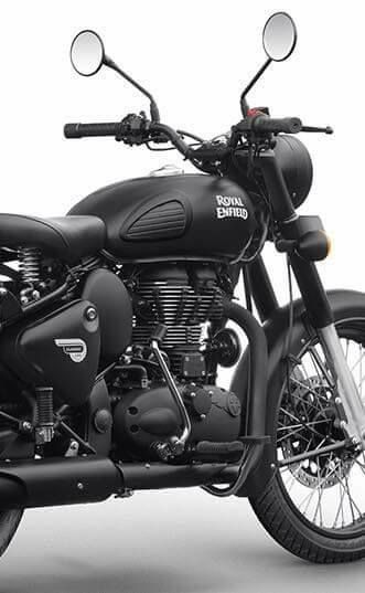 Royal Enfield Modified Royal Enfiled Classic Stealth Black 500, Modification Royal Enfield
