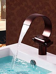 New Antique Design Basin Waterfall One Hole Double Handles Oil Rubbed Bronze Tap – GBP £ 130.86