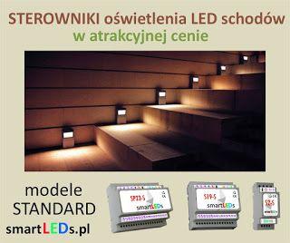 Co to są inteligentne sterowniki schodowe oświetlenia LED typu FALA ŚWIETLNA? Ekonomiczne modele STANDARD sterowników schodowych smartLEDs.