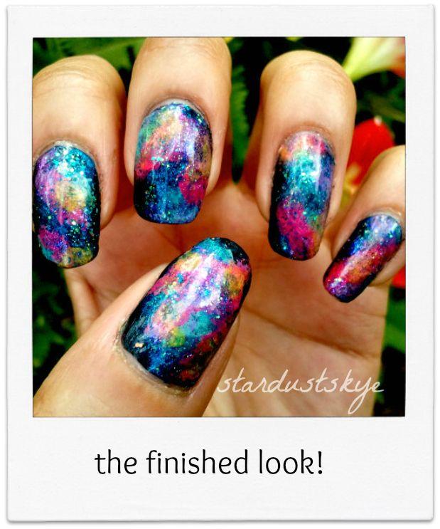 25 trending galaxy nails tutorial ideas on pinterest diy nails galaxy nails tutorial prinsesfo Gallery