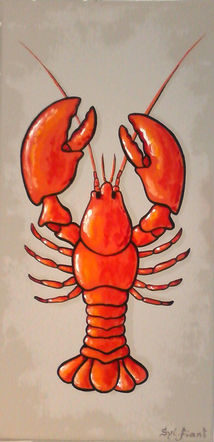 Le homard - 20x40 - vendu