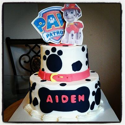 paw patrol cakes | Photo: Paw Patrol cake. Now off to San Antonio with a two tier cake in ...