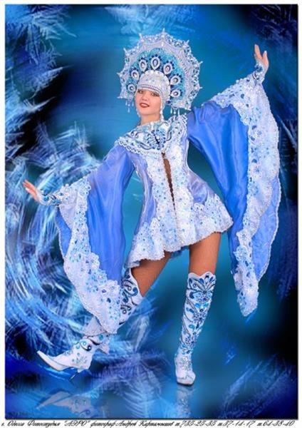 Выкройка костюма снегурочки стильный для взрослых