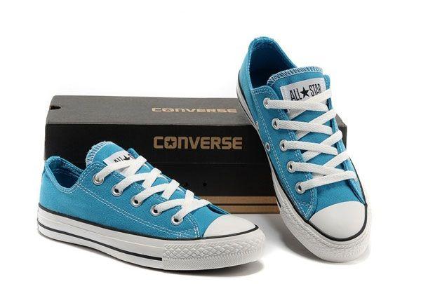 2016 classique Corée Edtion lumière fluorescente bleue Converse All Star Chuck Taylor Low Top chaussures de toile converse chuck taylor converse itali