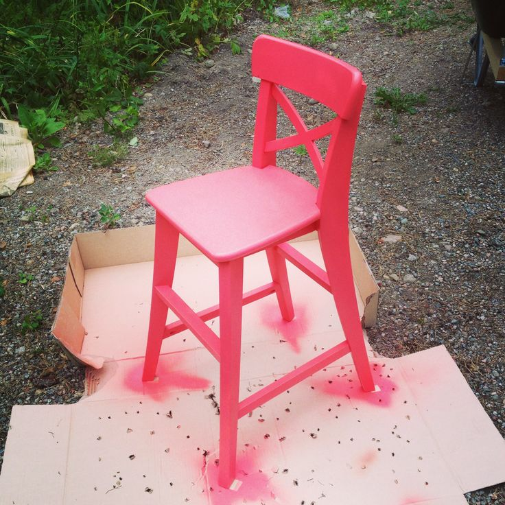 Cool painted ikeaus ingolf in colour strawberry add some Chaise junior ikea