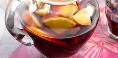 Sangria espagnole (vin rouge, limonade, jus d'orange, Cointreau, oranges, citron, sucre, cannelle, vanille)