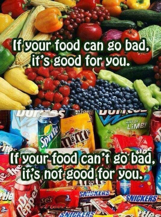 If your food can go bad, it's (probably) good for you.