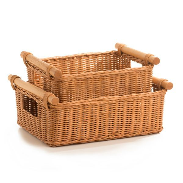 Wicker Dvd Paper Storage Basket In