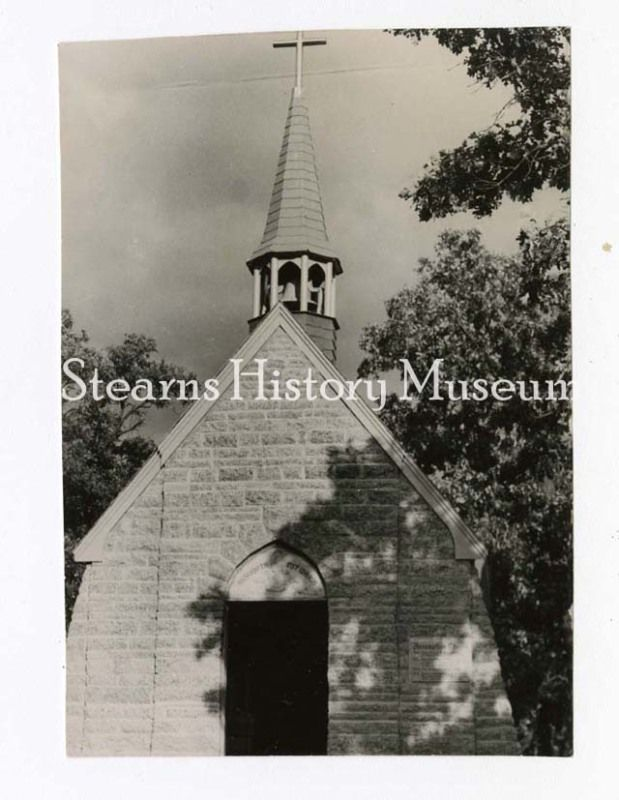 Assumption Chapel, Cold Spring, MN, Oct 1952 #churches #minnesota #historicphoto