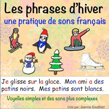 French Resources | Les Phrases D'Hiver - Winter Phrases | by Ms Joanne | $FREE