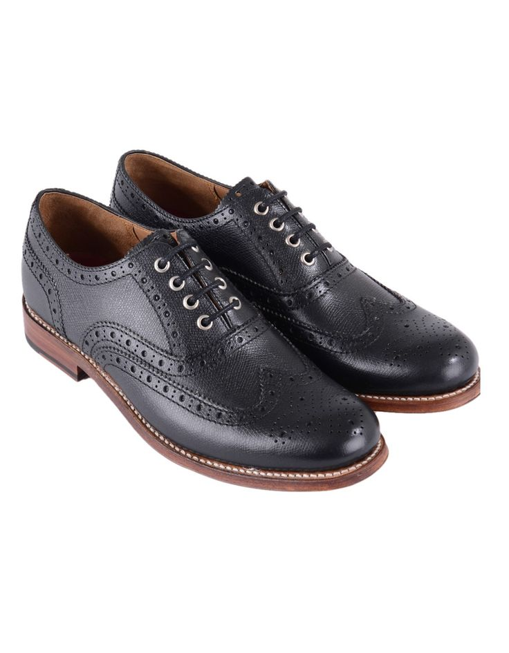 Grenson Black Rose Brogue | Accent Clothing
