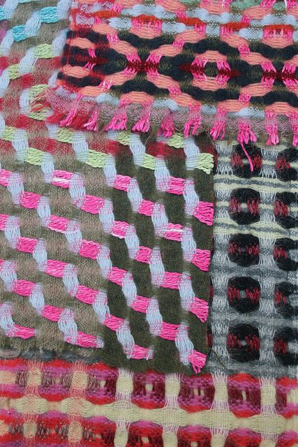Textile detail from weaver Margo Selby at The National Wool Museum, Drefach Felindre, Wales; photo by Kathryn Campbell Dodd