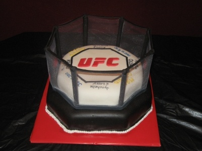 UFC Cage Groom's cake By cj72: Blow Andy S, Ufc Cake, Ufc Groom S, Surprise Ufc, Andy S Mind, Groom Cake, Cakes Groom, Grooms Cakes