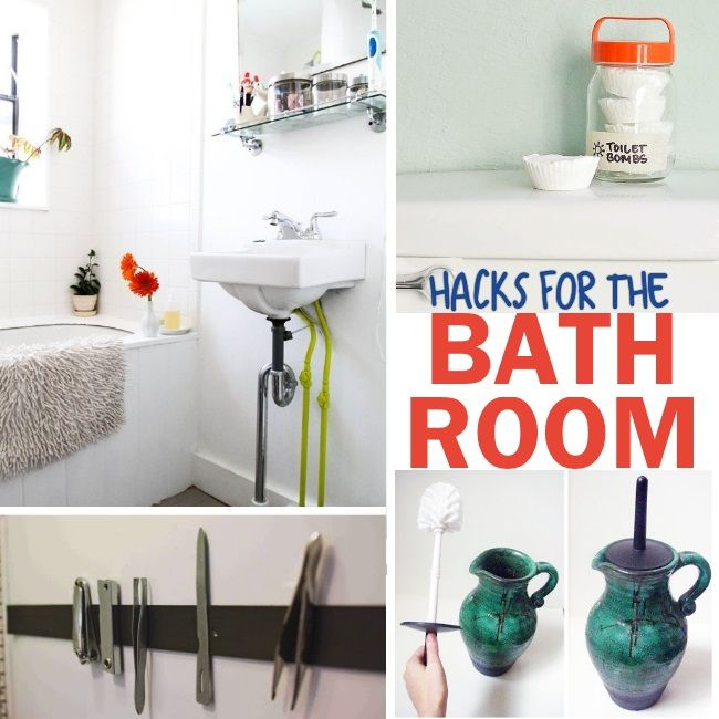 Genius Bathroom Hacks and Tips. I need to try all of these tips!