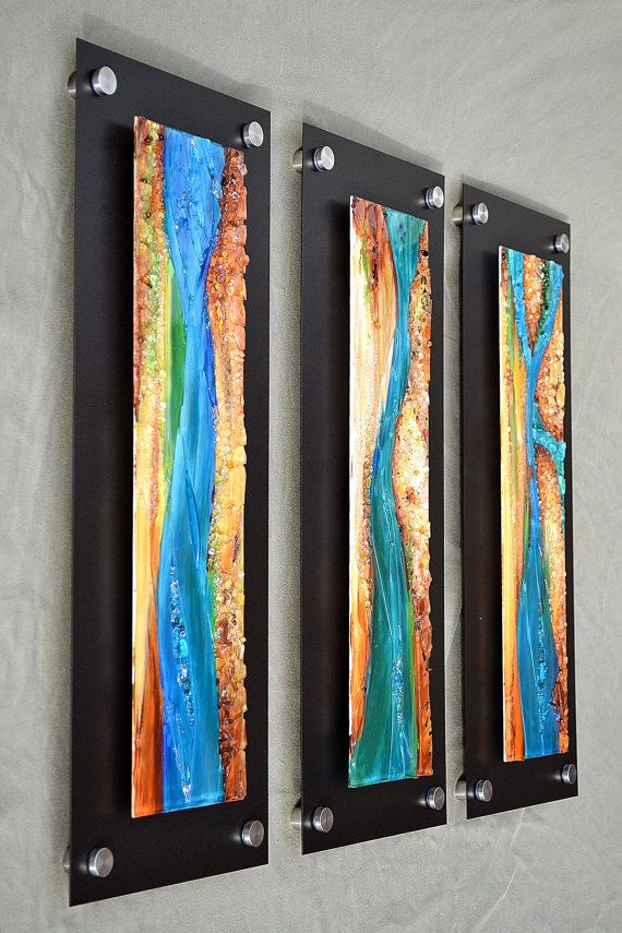 Fused Glass Wall Hanging Wave Formation With Images Fused