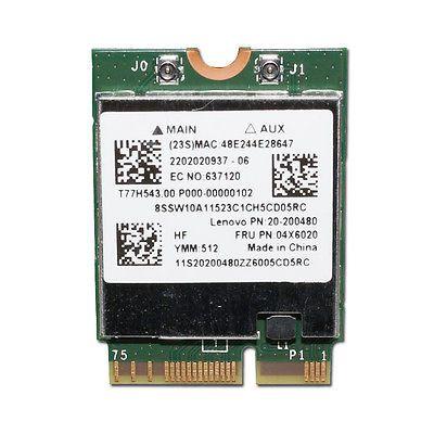 Broadcom BCM94352Z M.2 NGFF 802.11AC 867Mbps BT4.0 Lenovo FRU 04X6020 Wifi Card