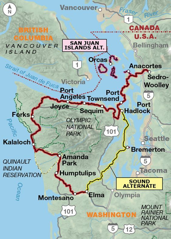 National Parks In Washington State Map.Washington Parks Highlights Olympic National Park Section 1 San