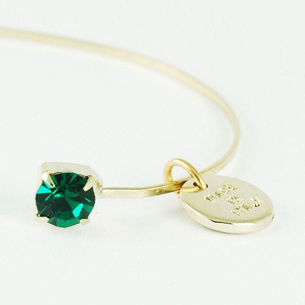 CATERINA MARIANI BIJOUX Swarovski Emerald Bracelet | La Luce http://shoplaluce.com/collections/caterina-mariani-bijoux/products/caterina-mariani-bijoux-emerald